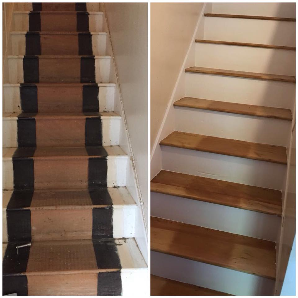 Stairs sanded and finished Oxford