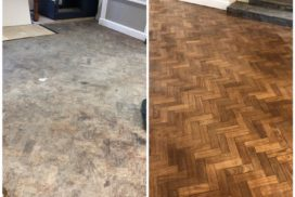Floor sanded and then re-sealed