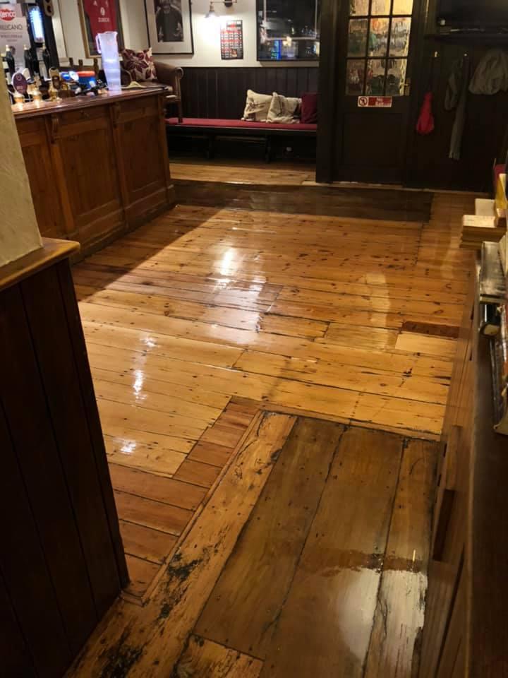 Pub Floor in Oxford Refurbishment