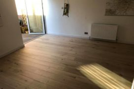 Uplift of old laminate, installation of a 15mm engineered Oak floor. New skirting boards fitted.