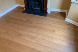 Howdens Chestnut floor installed today in two reception rooms.
