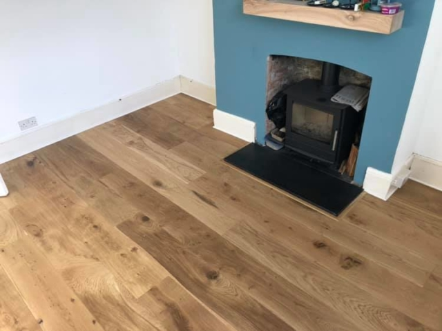 Engineered Oak Flooring 220mm fitted in Oxford Abingdon Rd