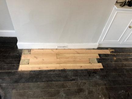 Floor repair and refurbish